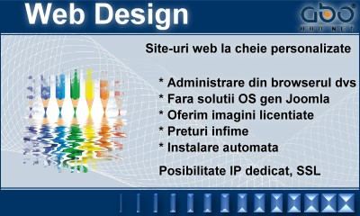 Web Design AUTOMATIC Pagina hosting romania .ro .net